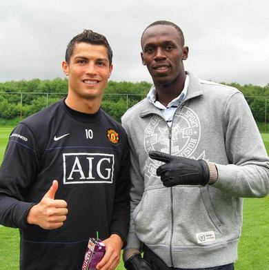 Ronaldo and Bolt
