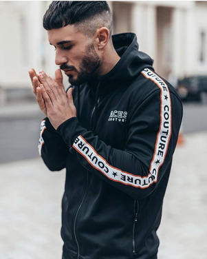 Aces Couture Hooded Track Jacket