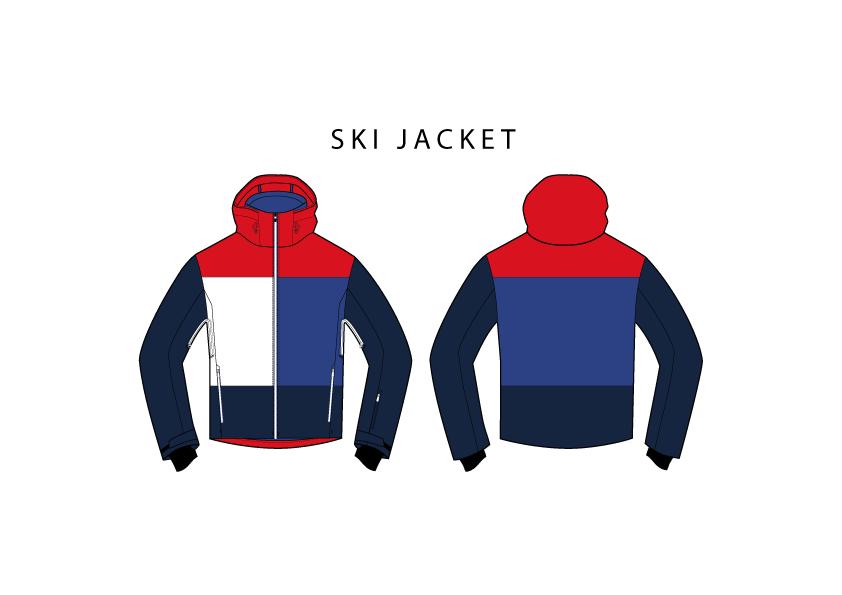 ski jacket vector jmitchelldesign