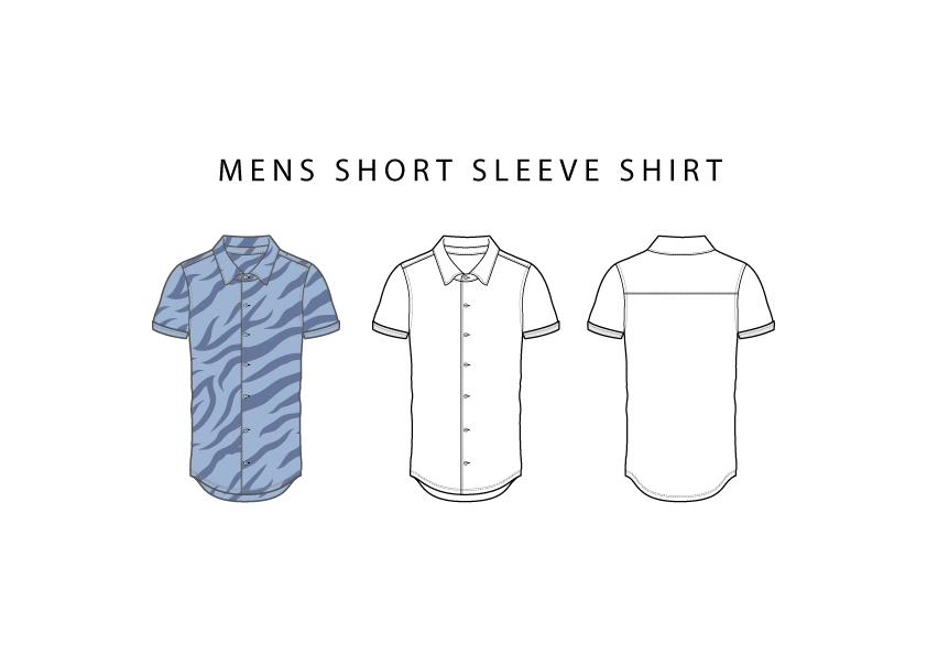 free fashion vector, fashion vector, short sleeve shirt cad, short sleeve shirt vector