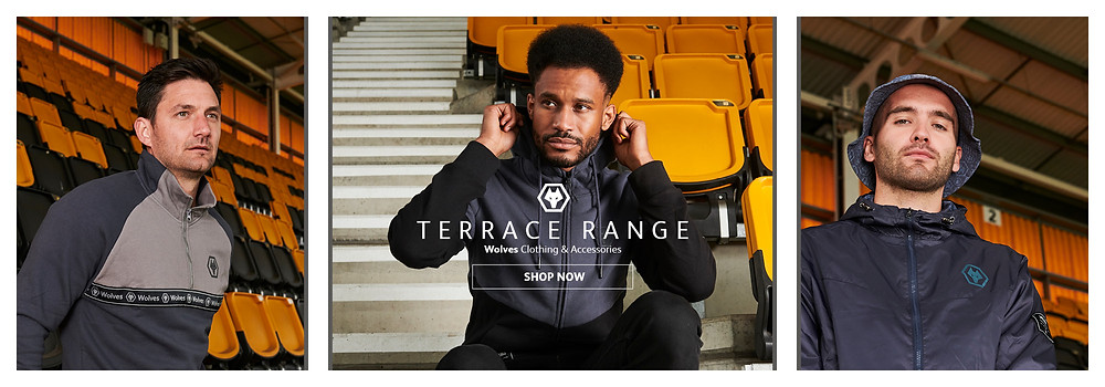 wolves players wearing Wolves Terrace Apparel