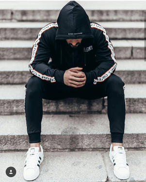 Aces Couture Black Hooded Tracksuit