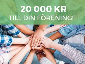Delar ut 20 000 kr till ett ungdomslag