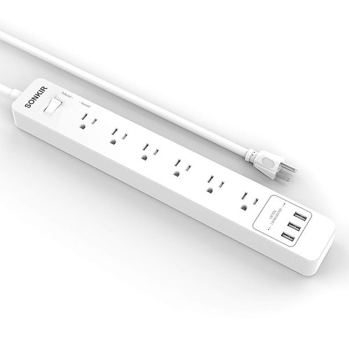 Sonkir 6-Outlet Surge Protector Power Strip