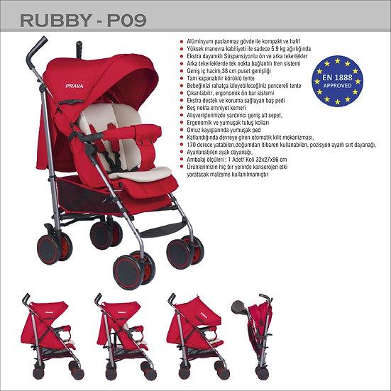 Lüx Baston Bebek Arabası Rubby P09