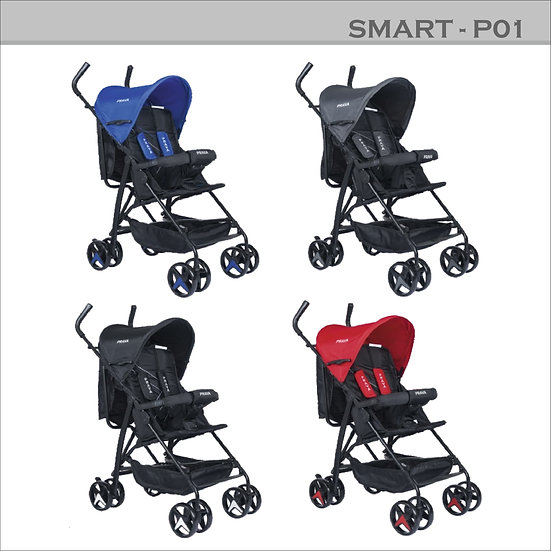 Smart P01 Tam Yatarlı Baston Bebek Arabası
