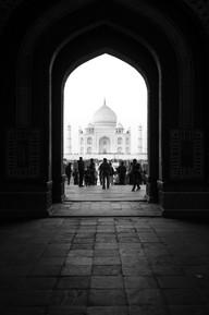 """Taj Mahal des de l'interior de la """"darwaza"""". Agra, gener 2017."""