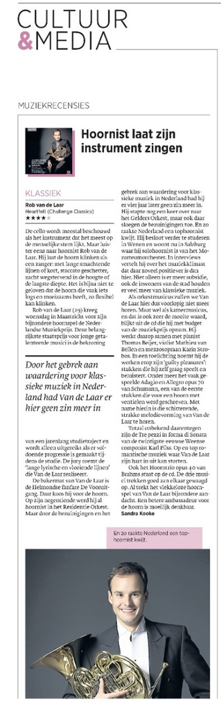 First CD review in Dutch newspaper Trouw