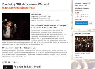 Debut as soloist at Royal Concertgebouw Amsterdam in 2019