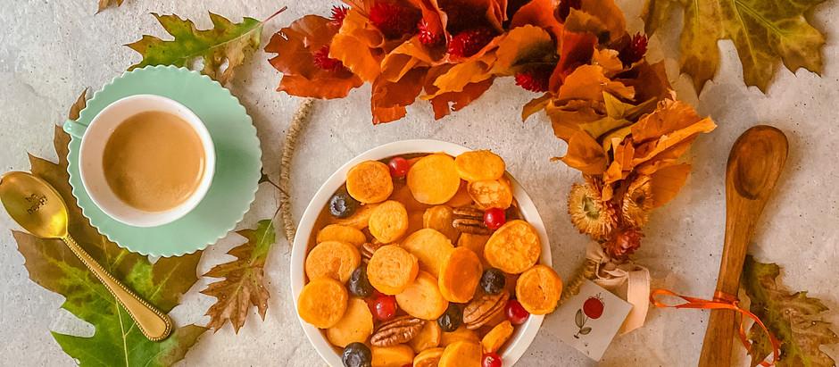 Pumpkin cereal pancakes
