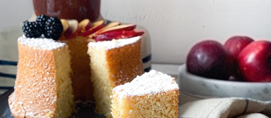 Chiffon cake Bellini (alla pesca)