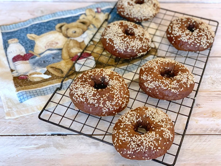 Pumpernickel bagels