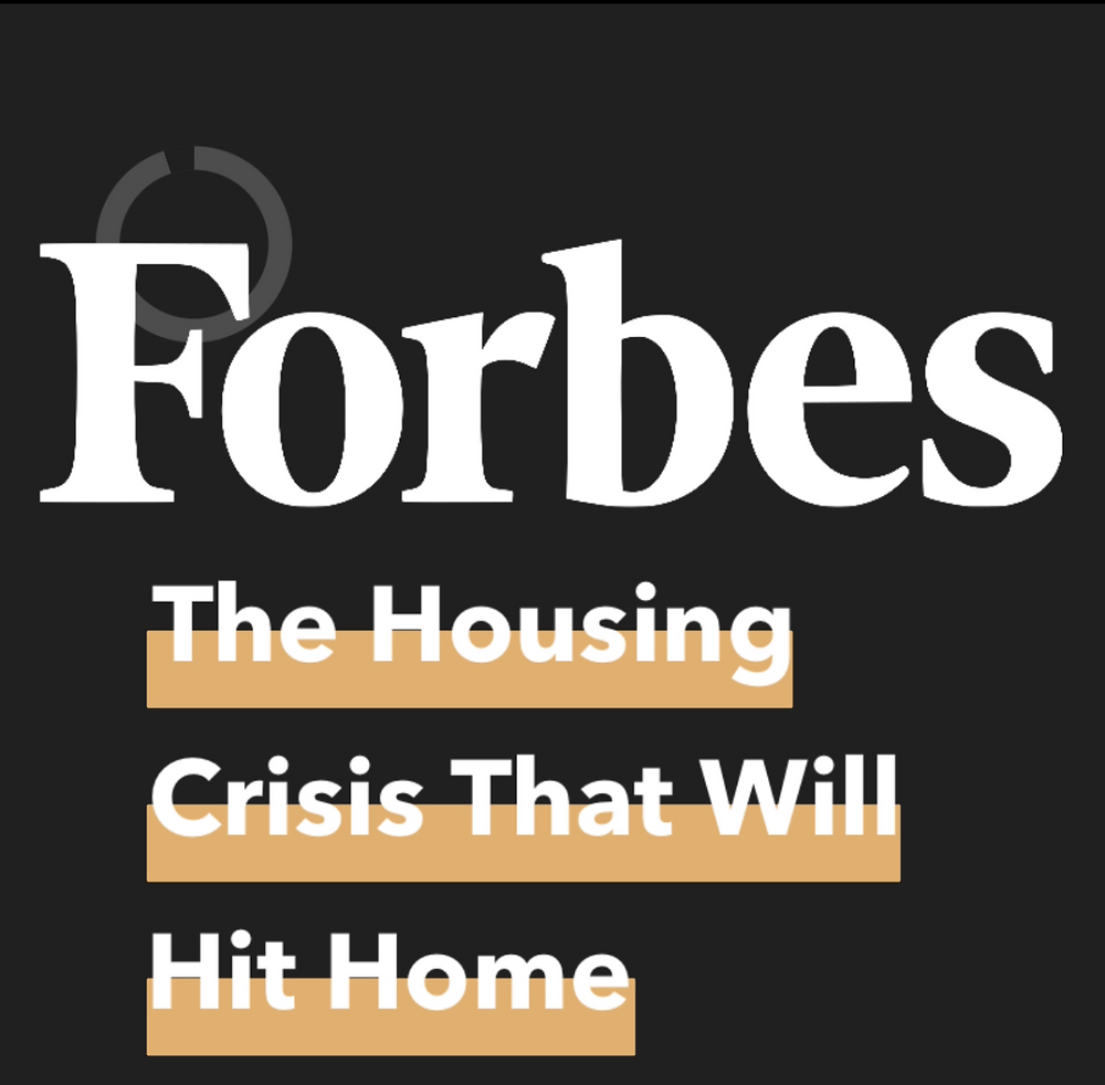 Graphic containing article title and Forbes logo
