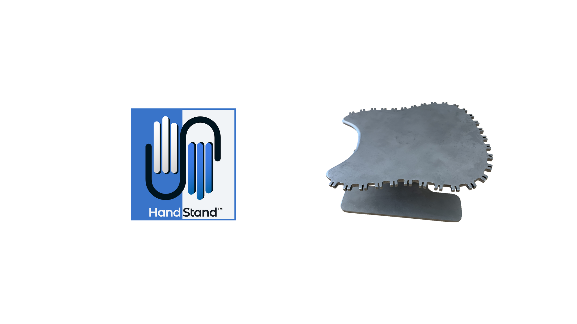 Image of HandStand™ and HandStand™ logo - the first sustainable surgery stand for procedures of the
