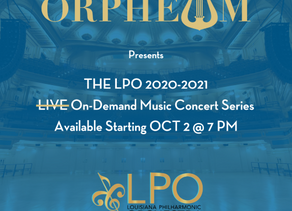 Orpheum Theater and LPO to Present On-Demand Concert Series