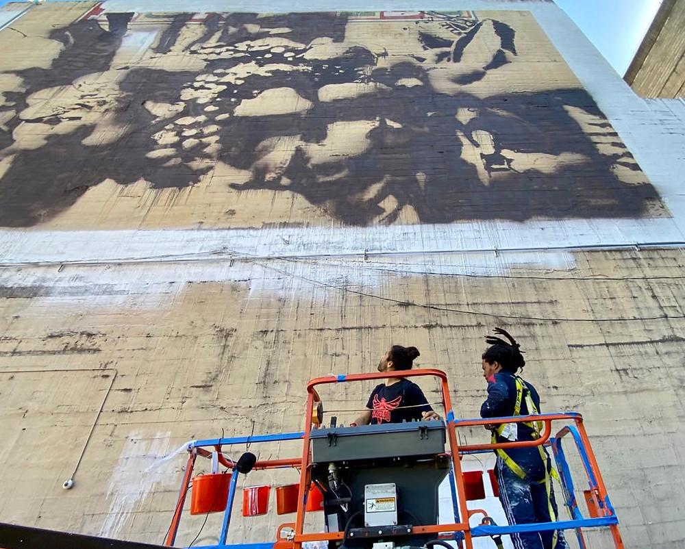 """Zero Hunger"" Mural on Orpheum Theater New Orleans"