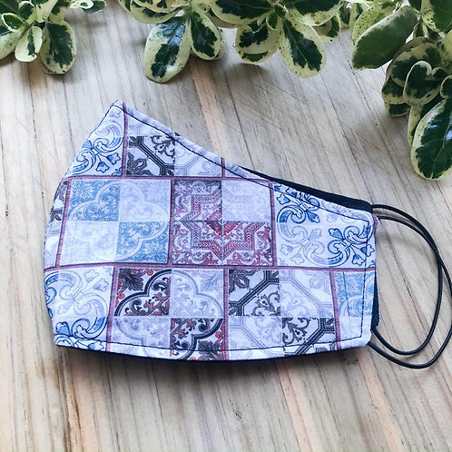 Fabric Mask - Square quilting
