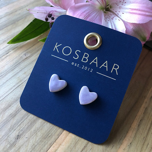 KERAMIEK Purple heart studs