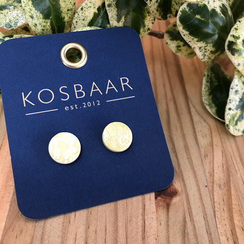 KERAMIEK Lace studs - Yellow