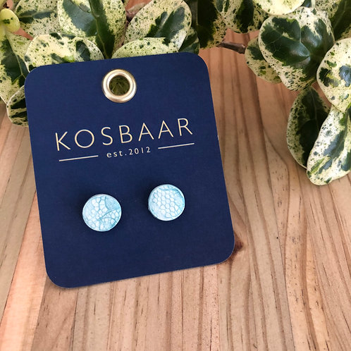 Porcelain lace studs -Light Blue