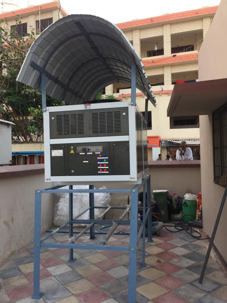 MEGHDOOT installed for the public at Dwarkadish Temple, Dwarka, Gujarat to supply clean drinking water to tourists and visitors in a highly saline and water-scarce location.