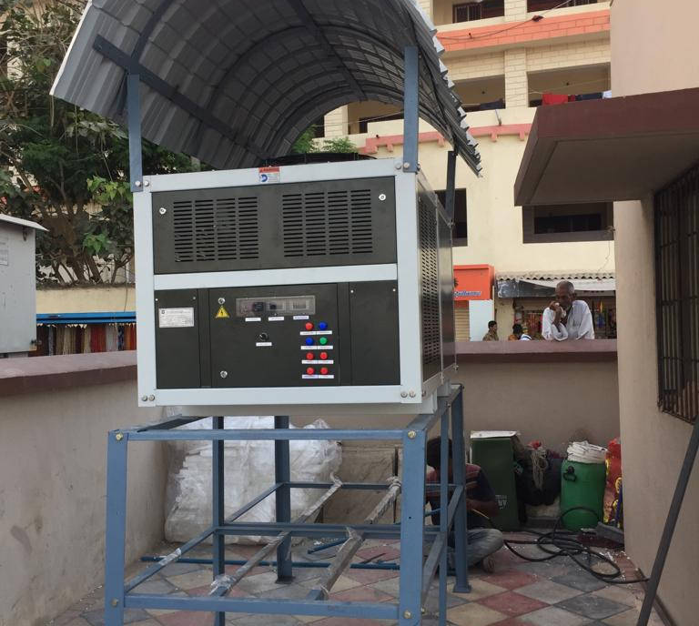 MEGHDOOT installed at Dwarkadish Temple, Dwarka, as part of a CSR project, to provide clean, potable water to travellers and devotees in a water-scarce region