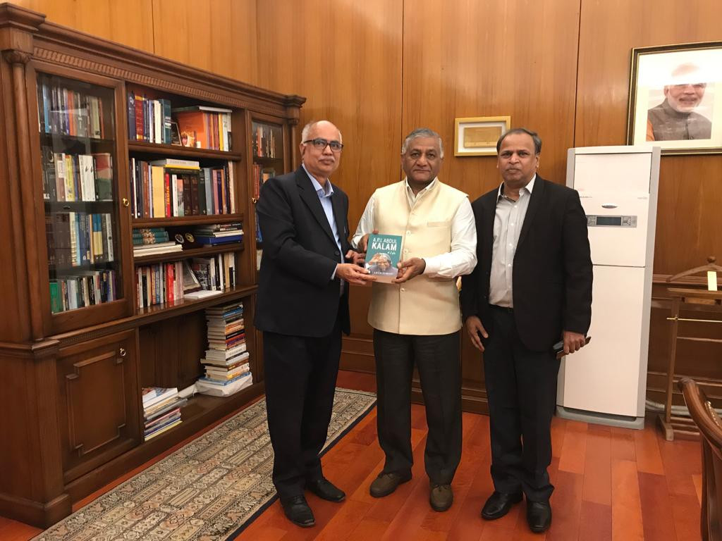 Hon`ble Minister of State for External Affairs General Vijay Kumar Singh, PVSM, AVSM, YSM, ADC (Retd) meets with our advisor distinguished Prof. Arun Tiwari and our Managing Director Mr. M Ramkrishna regarding Maithri Aquatech`s product MEGHDOOT.