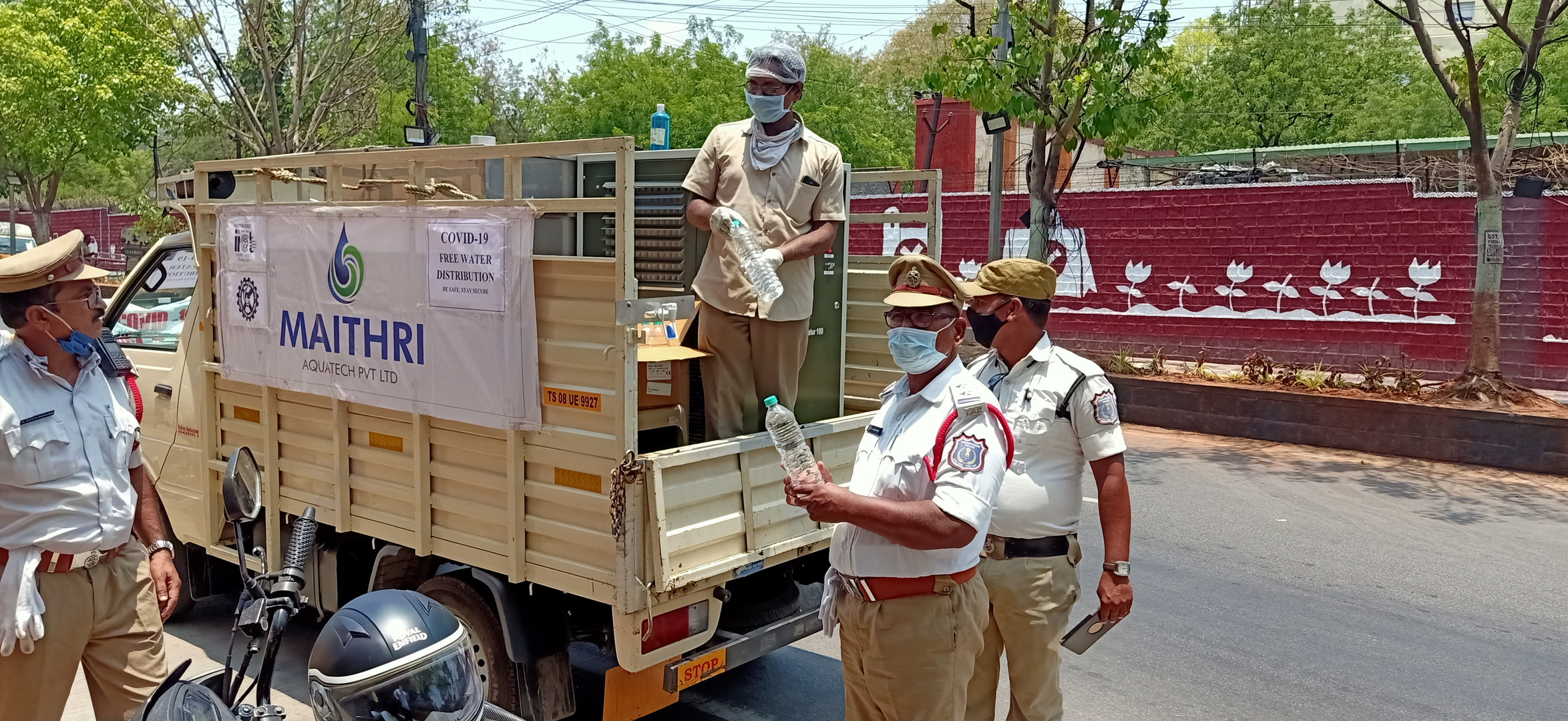 Maithri Aquatech has supplied Hyderabad's First Responders with the clean mineral enriched potable water during the COVID 19.