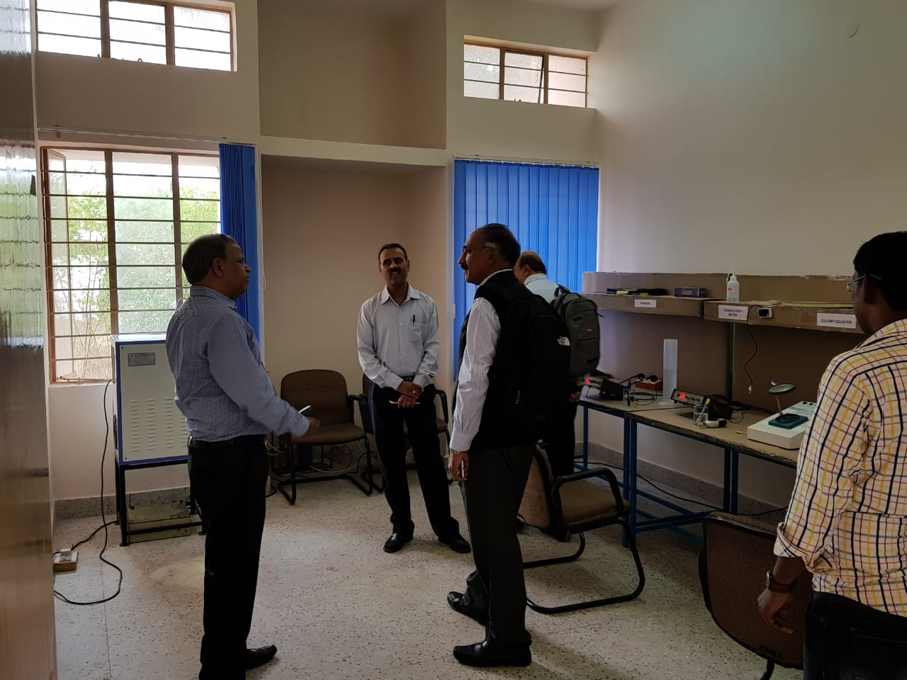 Dr. Nalin Shinghal, Chairman and Managing Director of CEL paying a visit to the Maithri Aquatech R&D Lab.