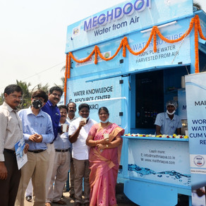 Smart City Vizag gets the 'World's First Mobile Water from Air Kiosk and Water Knowledge Centre'