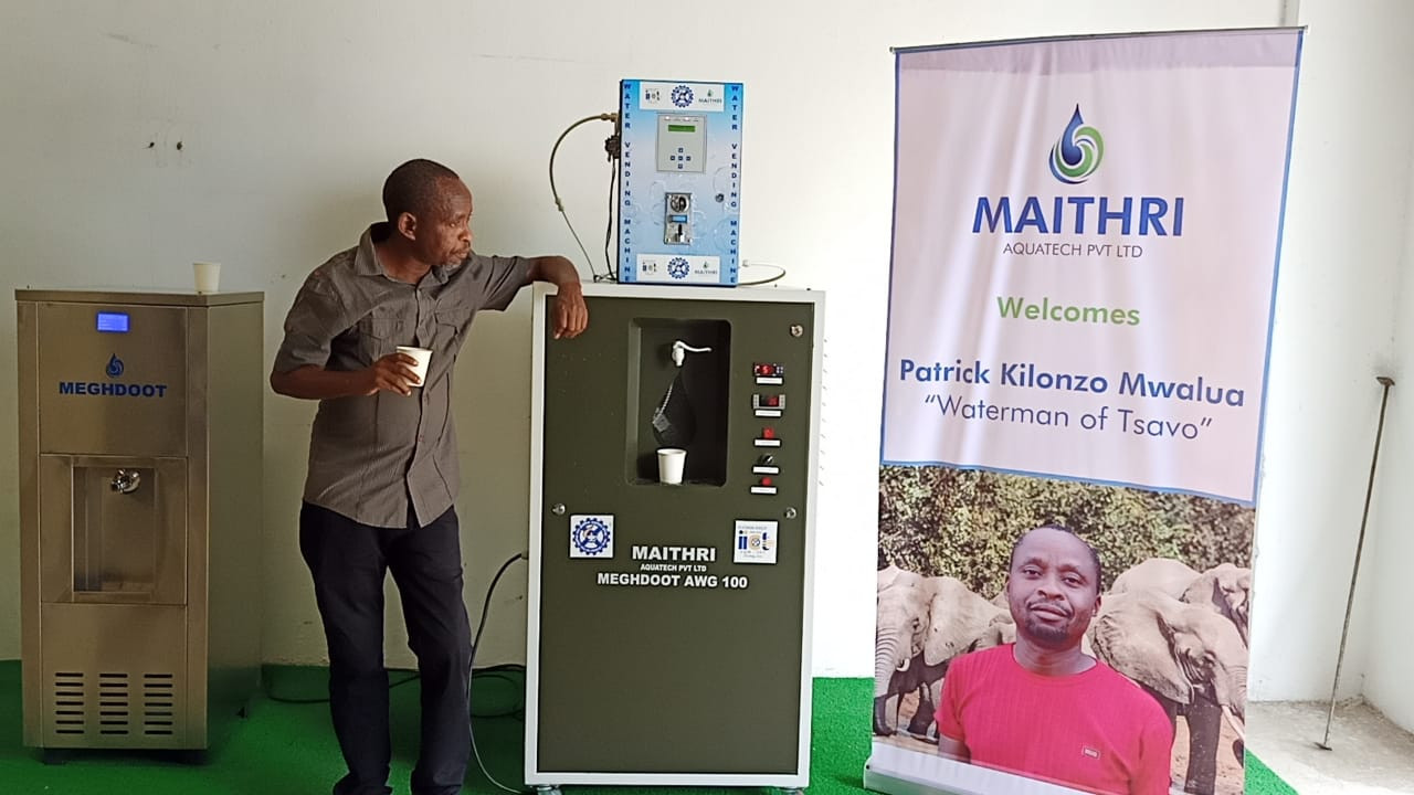 Maithri Aquatech has joined hands with Mr Patrick Kilonzo Mwalua, known world over as the 'Waterman of Tsavo' or the 'Kenyan Waterman', and has made him the company's ambassador to wildlife.