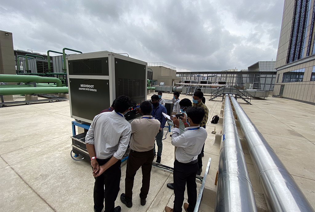 MEGHDOOT installed in Amazon India's Hyderabad office to sustainably produce potable water