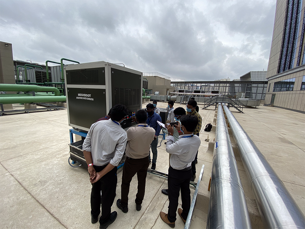 MEGHDOOT installed in Amazon India's Hyderabad office to sustainably produce potable water.