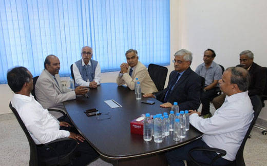 CMD of BEL Mr. M V Gowtama, Director (HR)-BEL Mr. R N Bagdalkar, Director of CSIR-IICT Dr. S. Chandrashekar, Distinguished Prof. Arun Tiwari, our Managing Director Mr. M Ramkrishna and staff discuss MEGHDOOT