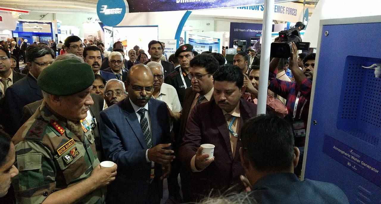 MEGHDOOT-1000 inaugurated by General Bipin Rawat, Chief of Defence Staff, at the Aero India Show 2019 in Bengaluru, India