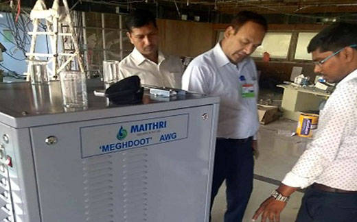 MEGHDOOT Atmospheric Water Generator demonstration held at the National Disaster Response Force (NDRF) headquarters, New Delhi