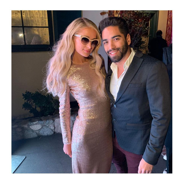 Paris Hilton and Jorge Perez