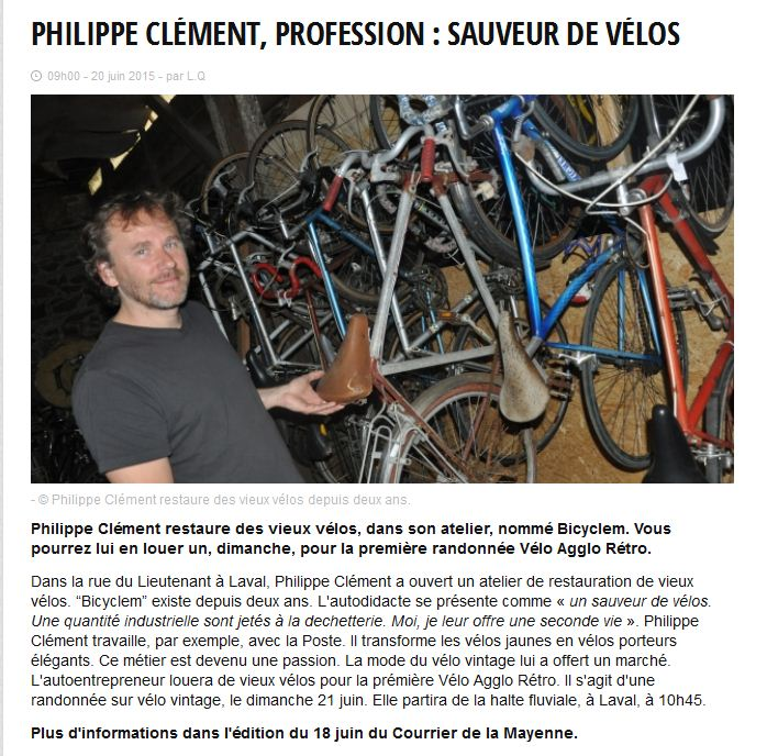 article bicylem ouest france
