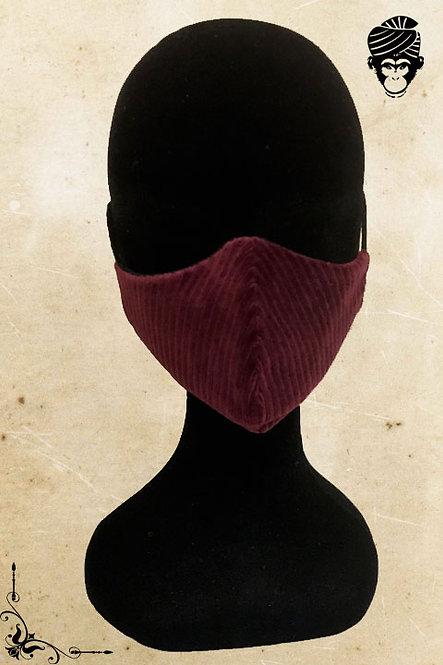 Mondmasker Dames BURGUNDY VELVET