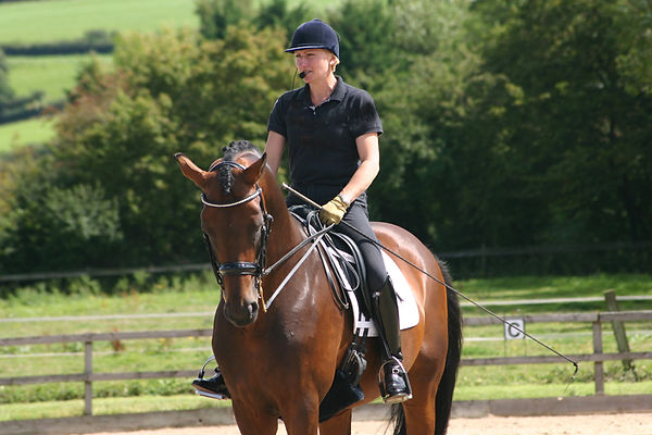 Alice teaching Dressage