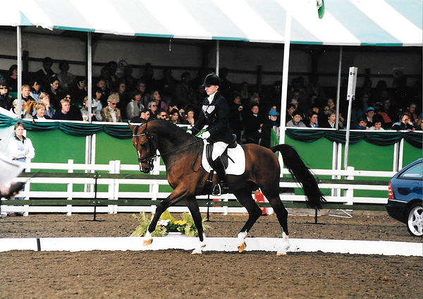 Alice riding at Dressage Championships