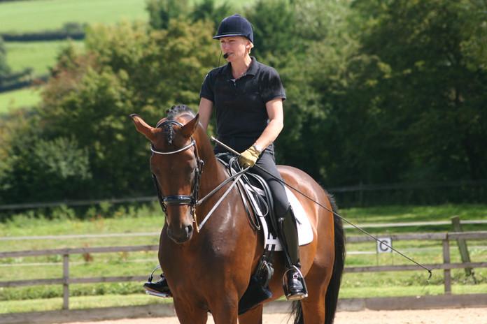 Alice teaching on horse