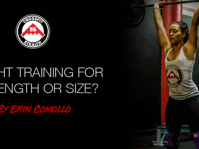 Weight Training for Strength or Size?