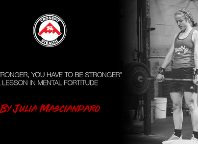 """""""To get stronger, you have to be stronger"""" - A Lesson in Mental Fortitude"""