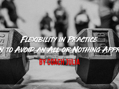 "Flexibility in Practice: When to Avoid an ""All or Nothing"" Approach"