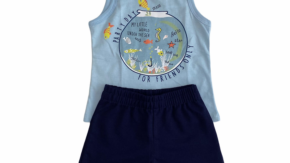 Conjunto Camiseta Machão e Short