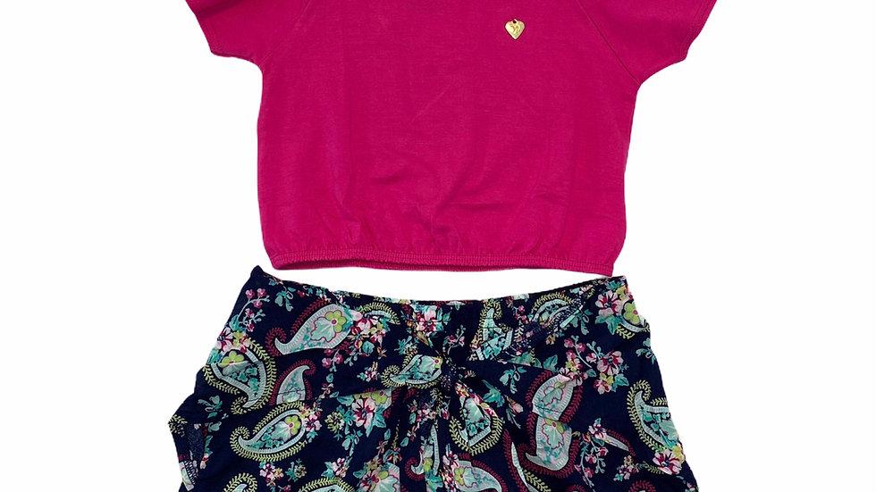 Conjunto Blusa e Short Paisley