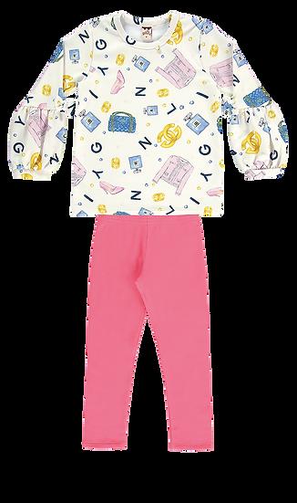 Conjunto Blusa e Calça Girly