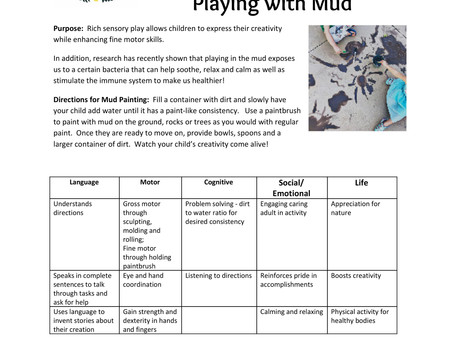 Activity Guide: Painting and Playing with Mud