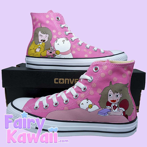 Bee and Puppycat Shoes - Custom Converse Anime Shoes